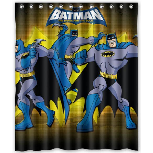 Superhero Batman Home Decor Modern Shower Curtain Bathroom