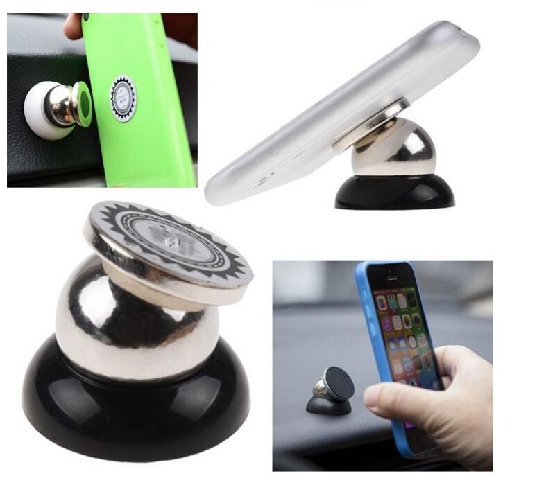 360 Degrees Mini Holder Magnetic Car Dashboard Mobile Mount Car Phone Holder Car Kit Mobile Phone Holder Black(China (Mainland))
