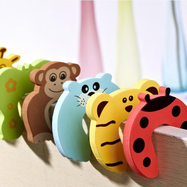 1 PCS Child Finger Corner Guard Baby Infant Safety Protector Stopper Kids Cute Cartoon Animals Door Jammer(China (Mainland))
