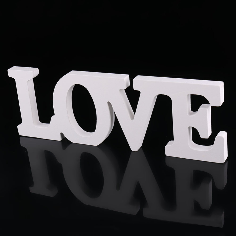 Wedding decorations love letter wooden white wood alphabet for Letter g decoration
