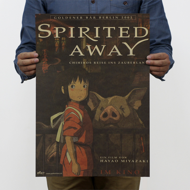 Spirited Away Anime Poster Classic Cartoon Posters...