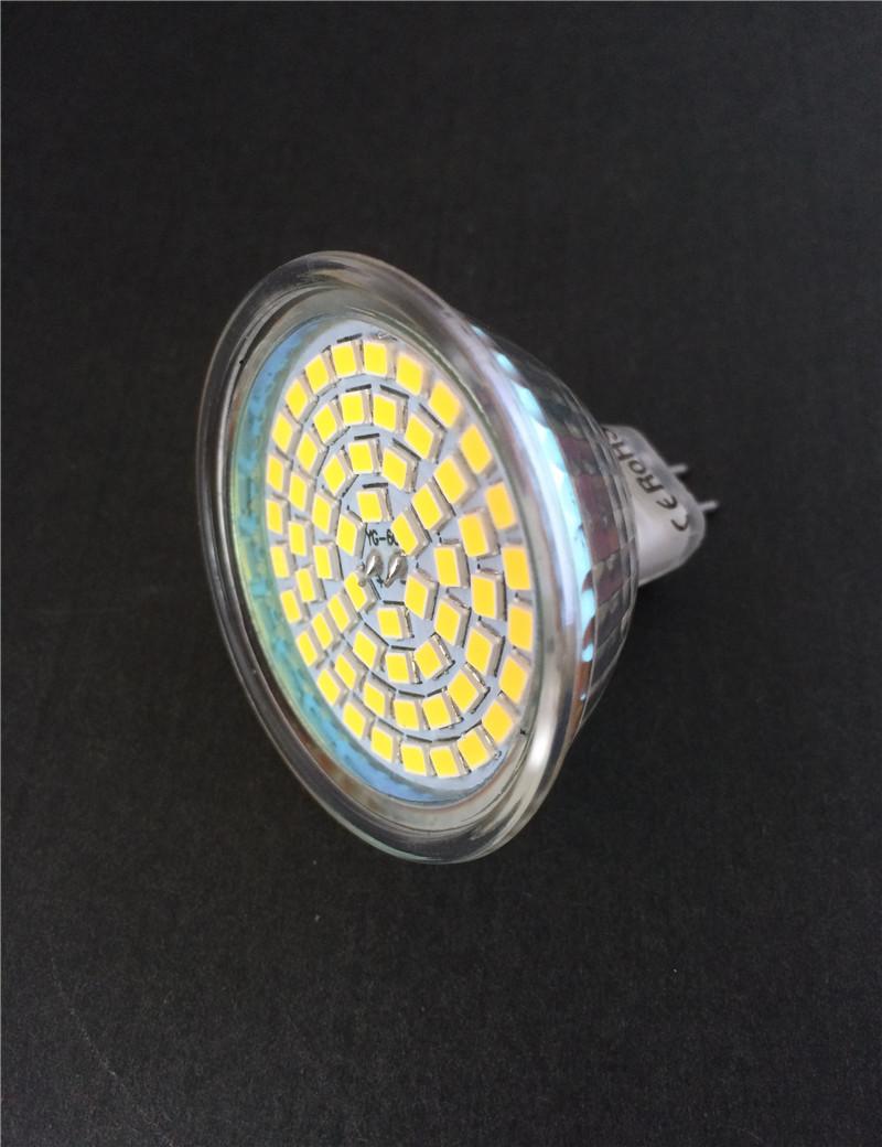Led Spotlight MR16/GU10 220V/12V 5W Lights 60Leds 2835 Led Lamps Glass Body Spot Light Bulb lampada <br><br>Aliexpress