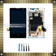 Жк-дисплей с сенсорным экраном дигитайзер ассамблеи с рамкой для Nokia lumia 1020 + бесплатные инструменты