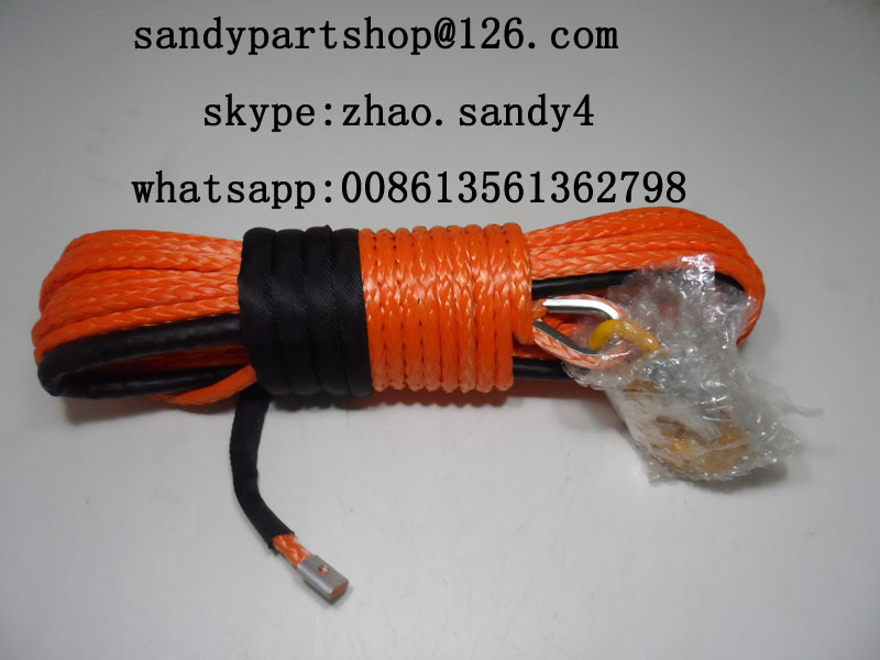 12mm*30m atv synthetic winch rope for trailer winch,towing rope for 4wd wheels(China (Mainland))