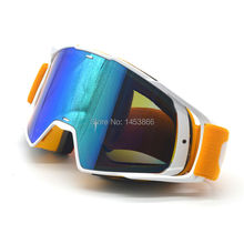 Orange White Color Reflective Lens Flexible Adult Motorcycle Protective Gears Motocross MX Goggles CE Mark Sunglass