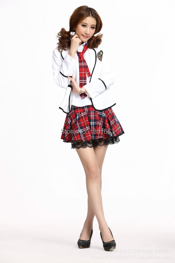 school girl uniform cosplay halloween costumes for women