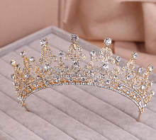 Red/Clear Wedding Bridal Crystal Tiara Crowns Princess Queen Pageant Prom Rhinestone Veil Tiara Headband Wedding Hair Accessory(China (Mainland))