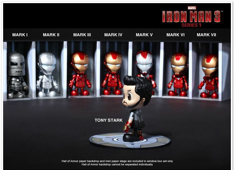 Free Shipping Hot Toys Marvel Iron Man 3 MK1-7 PVC Action Figures Toys set of 8 HRFG101<br><br>Aliexpress