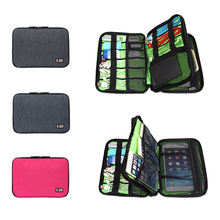 """Brand Digital Accessories Bag, Case For ipad mini 1/2/3. 7"""" Tablet , Hard Drive Disk Cables USB Flash, Free Drop Shipping(China (Mainland))"""