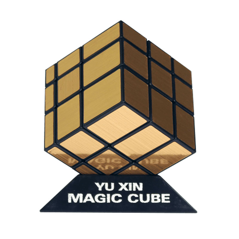 2016 Newest Yuxin Mirror Cube 3x3x3 black and white with silver stickers, black and white with golden stickers, pink and blue(China (Mainland))