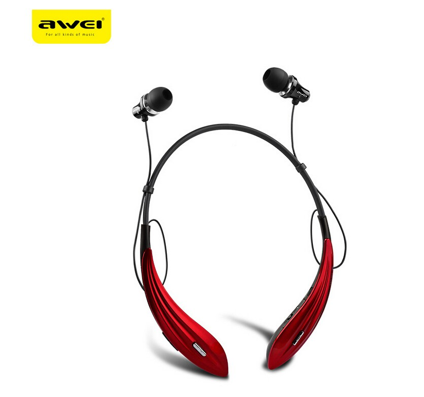 awei a810bl neck band bluetooth headset red. Black Bedroom Furniture Sets. Home Design Ideas