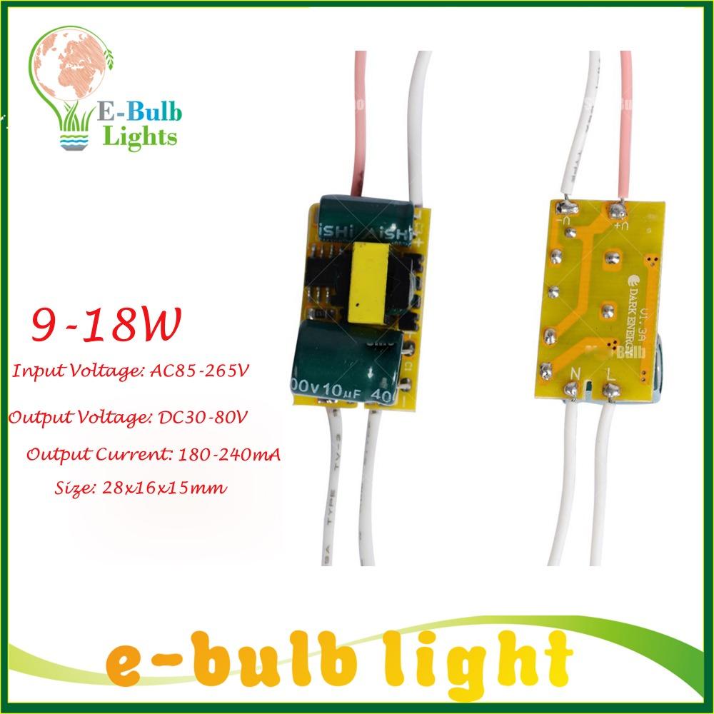 Led Driver 9-18W ,AC85-265V 50/60Hz ,Output 180-240mA supply for lamp 9W~18W LED light adapter trasformer 9w 10w 15w 20w(China (Mainland))