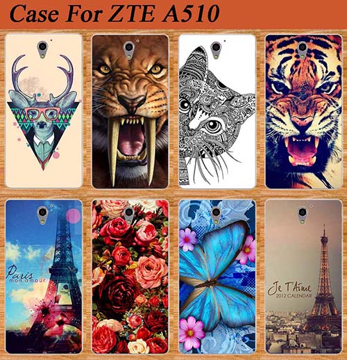 For ZTE Blade A510 Case Cover High Quality Diy Painted Tiger Owl Rose soft tpu Case For ZTE A510 BA510 Cover Sheer(China (Mainland))