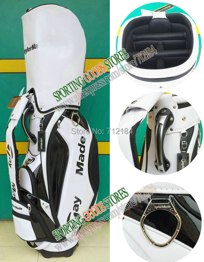 Best Selling-Standard 9.5 Size Green Golf Staff Bags Men Golf bag PU 5 Dividers bag EMSFree shipping(China (Mainland))