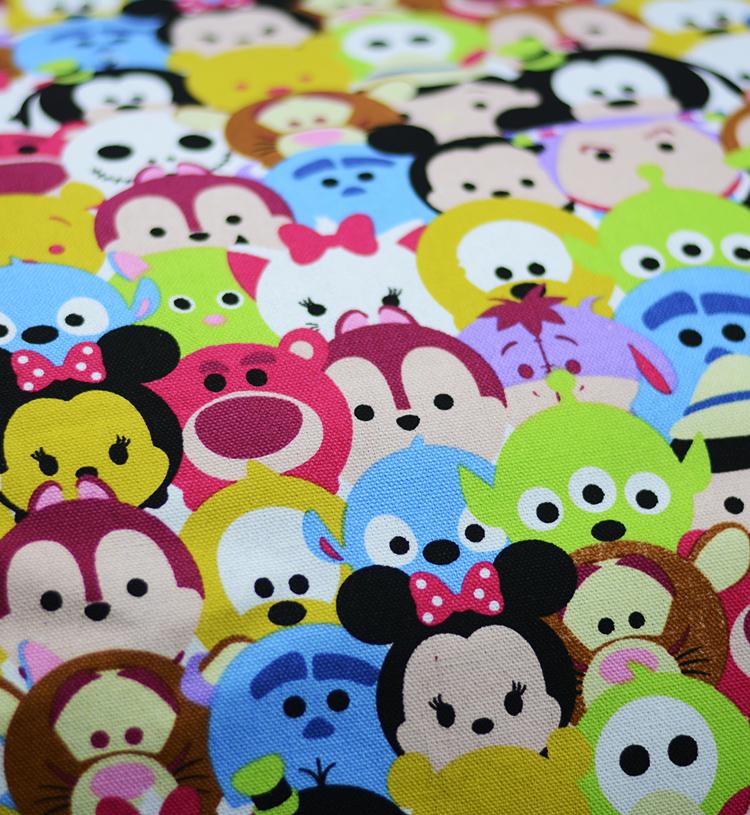 1 ярд животный мир ситца полиэстер холст хлопчатобумажная ткань лоскутное шитье ткань дети тканей детей telas infantiles