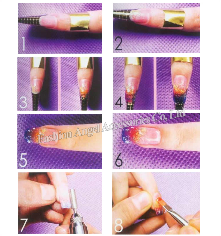 Nail art guide form sticker pcs roll square paper