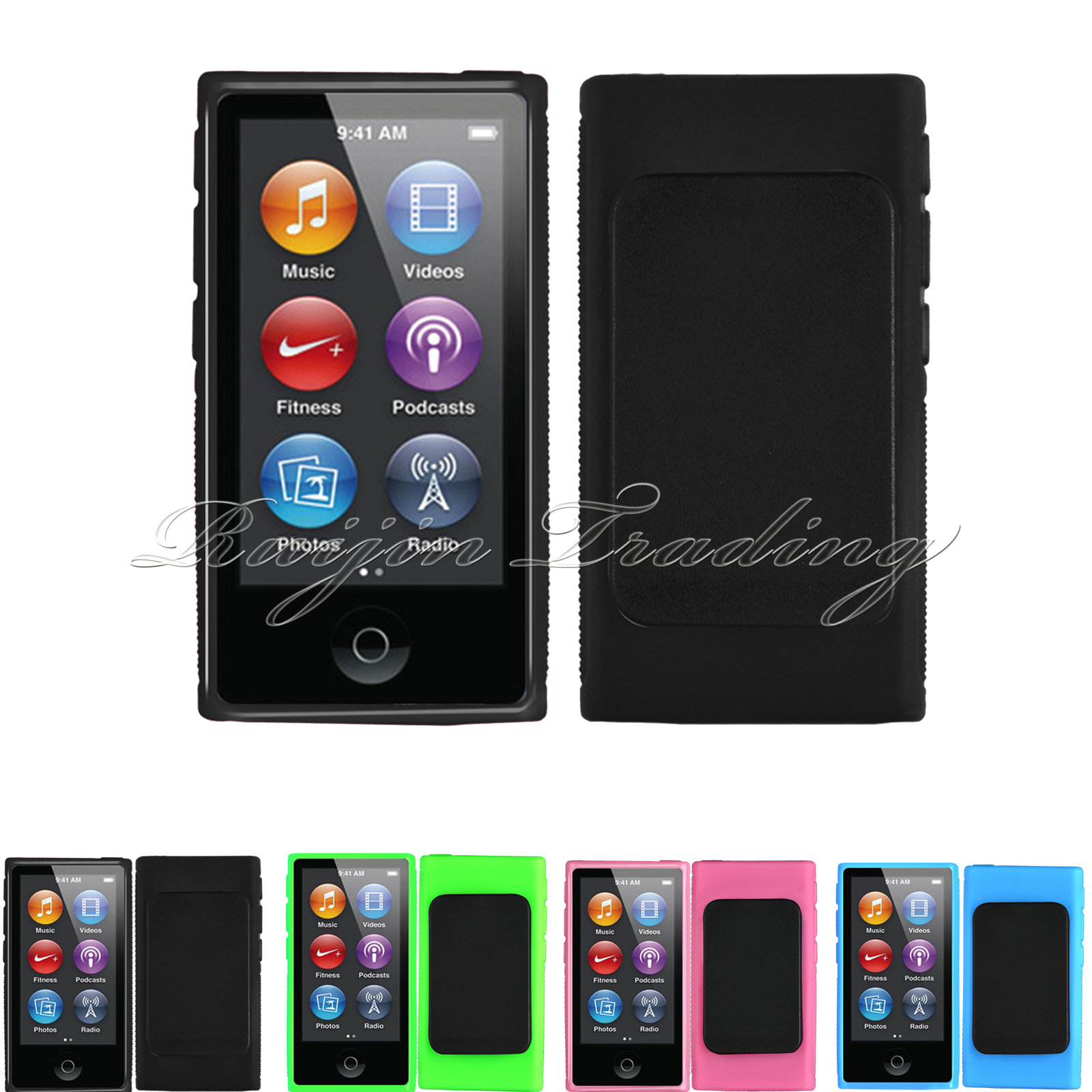 TPU Case for Apple iPod Nano 7th Gen Protective Skin Newest Cool Belt Clip Cover Guard Shell with Holder(China (Mainland))