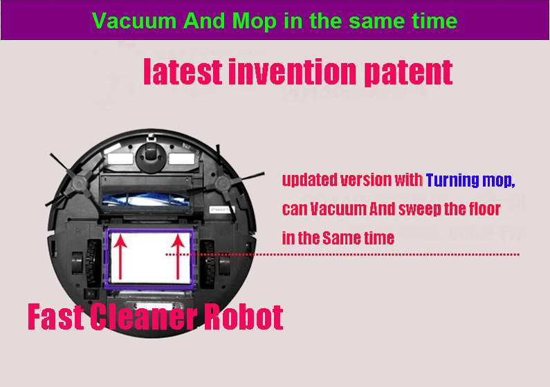 Smartphone WIFI APP Control Wet And Dry Vacuum Cleaner Robot With 150ml Water Tank Independent Wet Mop and Dry Mop Part