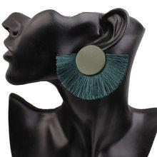 Amader Boho bohème ethnique gland boucles d'oreilles pour femmes mode bijoux déclaration frangée goutte boucle d'oreille femme bijoux 2019 nouveau(China)