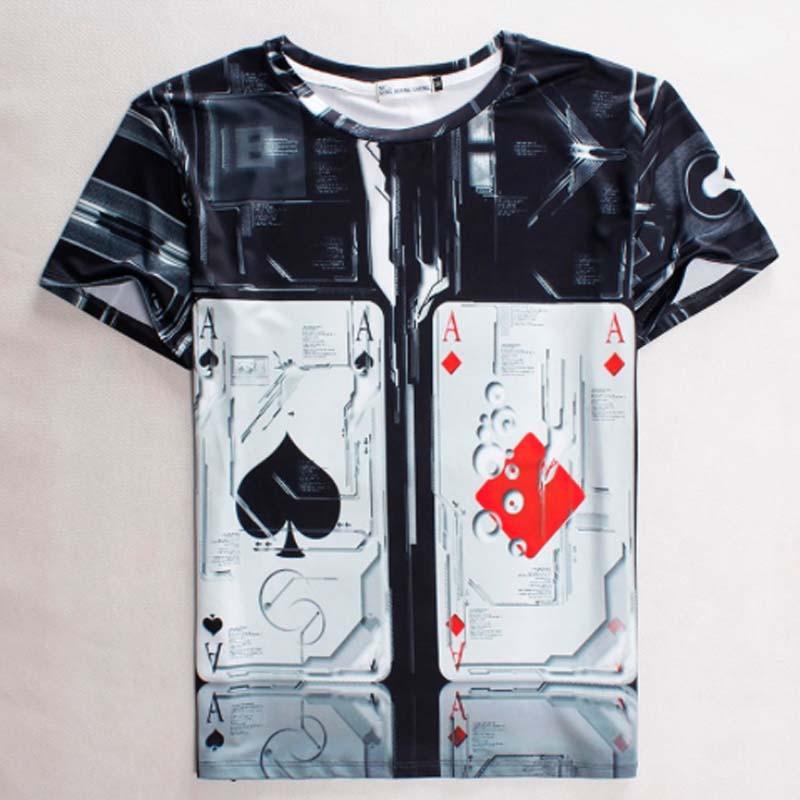 New 2015 summer Heavy metal men t shirt rock t-shirt man 3D t-shirt fashion brand hip hop cotton t-shirt(China (Mainland))