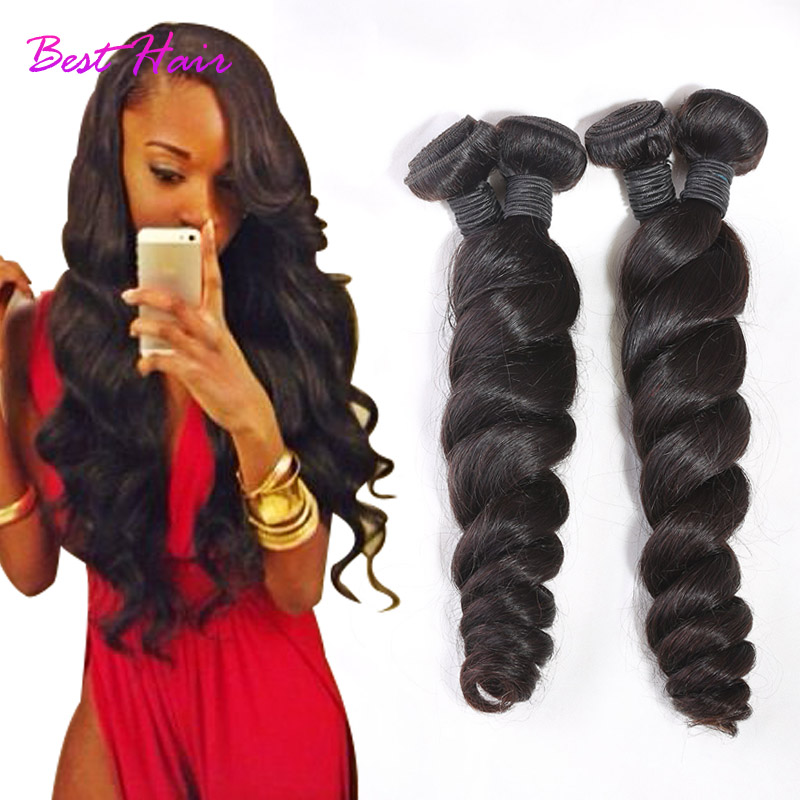 Virgin Peruvian Loose Wave 4pcs lot Cheap Human Hair Unprocessed 6a Peruvian Loose Wave Virgin Hair Best Hair Store Loose Wave