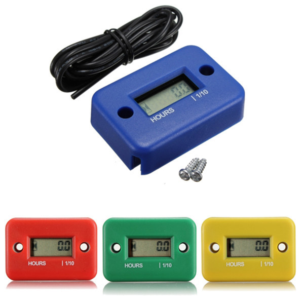 High quality Inductive Digital Hour Meter for Bike Motorcycle ATV Snowmobile Marine Boat Ski Dirt Gas