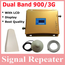 Hot Sell 1 Set Dual Band 900 and 3g Repeater for Signal Repeater Amplifier, GSM Repeater 3g Booster 2100mhz, 3g Signal Amplifier(China (Mainland))