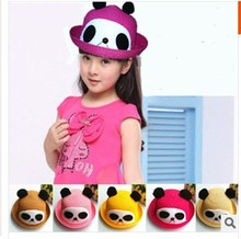 60pcs/lot Children's panda hat