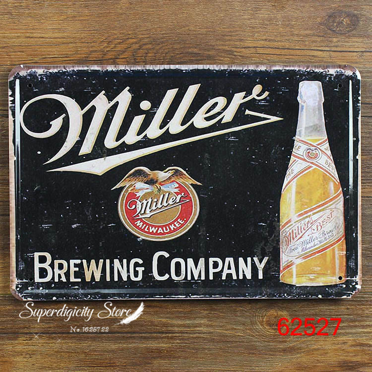 Christmas decoration TIN SIGN Miller beer Metal Decor Wall Art Garage Shop Store Cave W-28(China (Mainland))