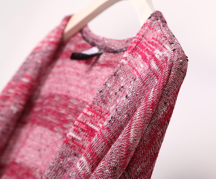 2016 новых женщин тонкий джемпер свитер полосатый хлопок вязать большой свободный кардиган большой размер открыть стежка весенняя мода свитер