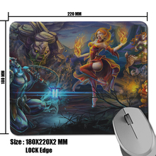 Game Player Mouse Mat Dota 2 Heroes Background Printing Non-Slip Rubber Durable Professional Pad - Redesign-DIY Case store