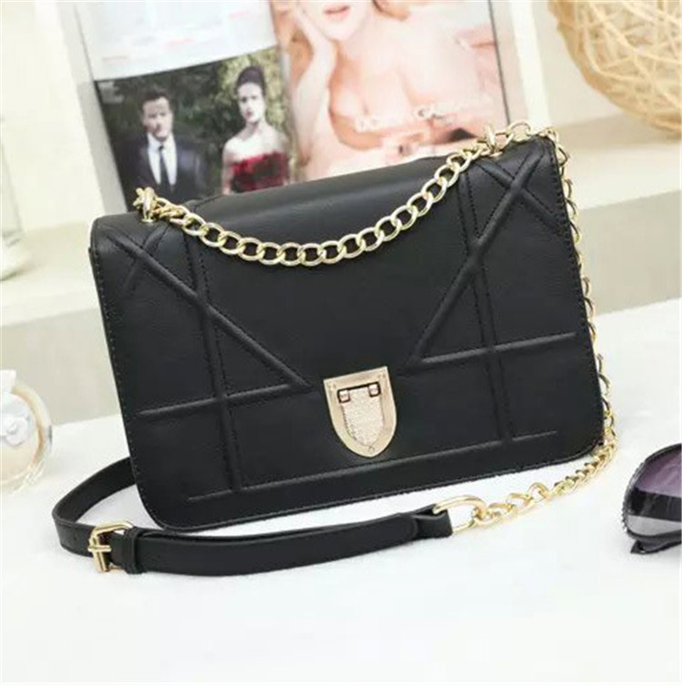 2016 High Quality Women Shoulder Bag Handbag Chain Leather Brand Messenger Crossbody Simple Casual Desigual Luxury Fashion<br><br>Aliexpress