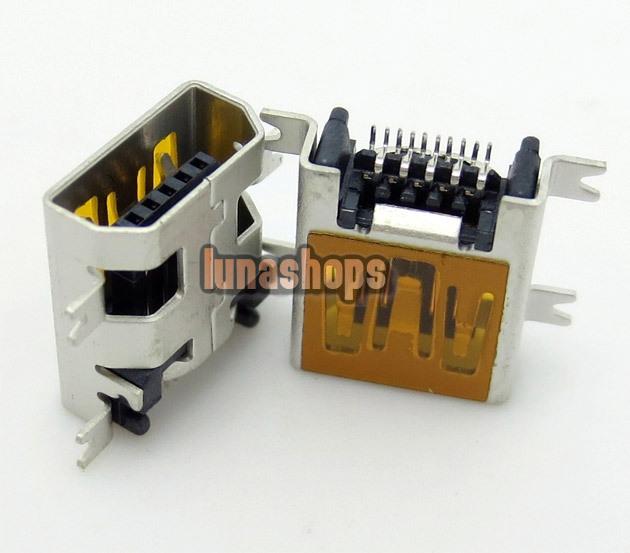 U026 Repair Parts MINI USB Data charger port Adapter For Tablet Mobile Phone 10pin LN003733