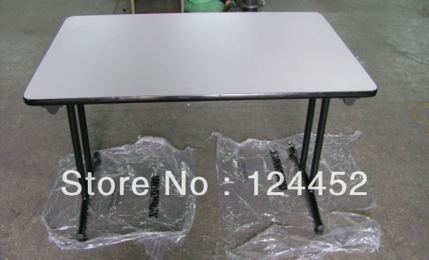 Banquet folding tables -Melamine Ivory wooden table M-table 001