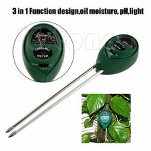 New Hot 3 in1 PH Tester Soil Water Moisture Light Test Meter for Garden Plant Flower Kit Hydroponics Analyzer(China (Mainland))