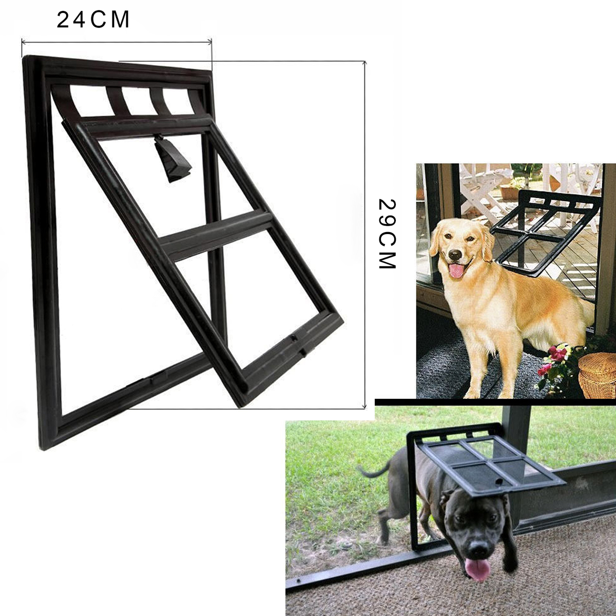 4 Way Small Medium Pet Cat Kitten Dog Supply Lock Lockable Safe Flap Door PS043(China (Mainland))