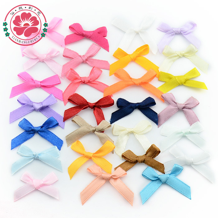 1-9 (500 pcs/Lot ) Factory Handamde Children Clothes Accessories Satin Ribbon Bow Wedding Scrapbooking Embellishment Crafts(China (Mainland))