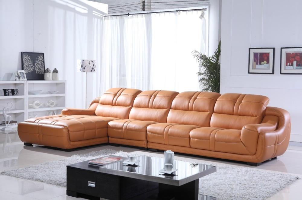 2015 Latest Modern Design Leather Sofa 669 In Living Room