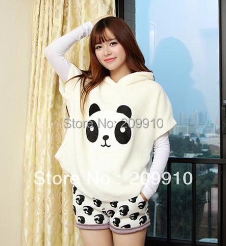 Free Shipping ! 2015 New Fashion Autumer Winter Juniors Cute Clothing outerwear Panda Sweatshirt pullovers(China (Mainland))