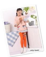 Retail 2 7years 6 color footless girls cartoon pattern leggings kid pants clothing kids children s