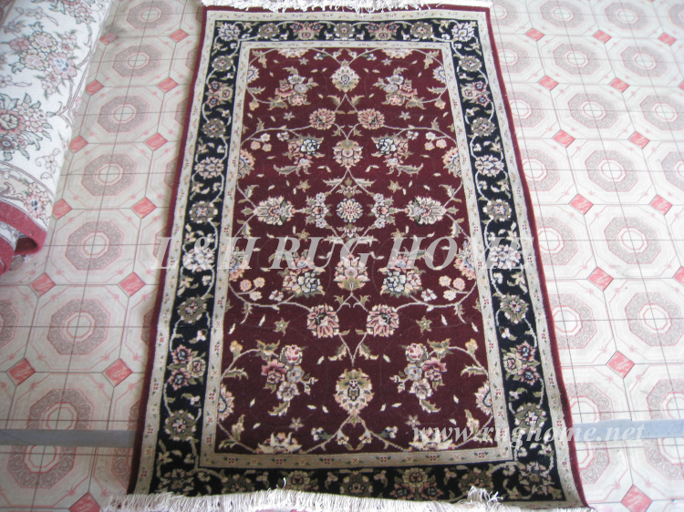 Free shipping 3'X5' 160 Line Persian carpet, Hand knotted persian rug, wool and silk(China (Mainland))