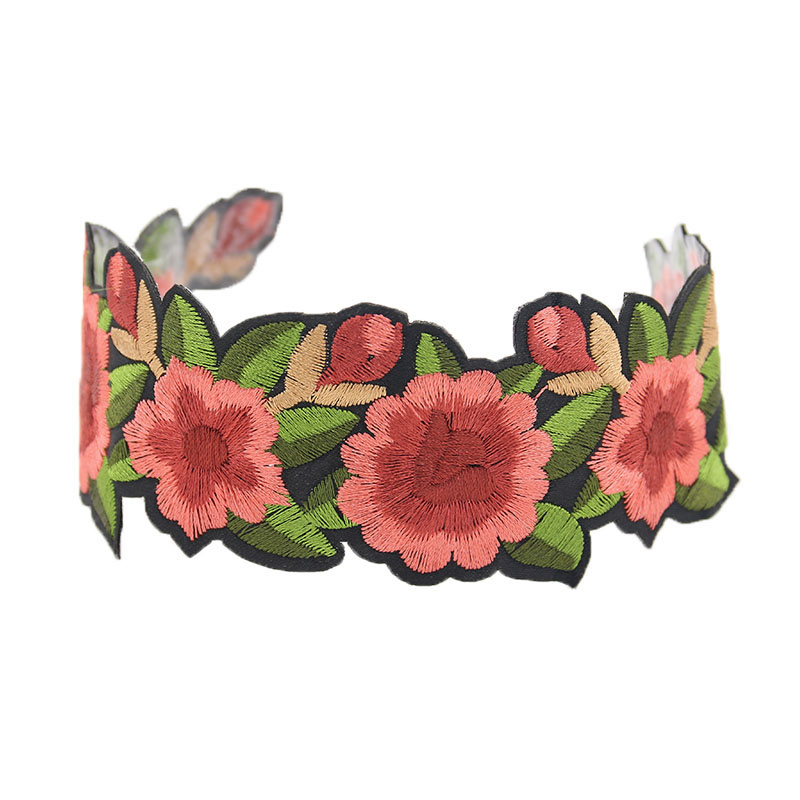 New Embroidery Flower Choker Lace Necklace Gothic Tattoo Choker Jewelry collar Choker necklace Punk diy Handmade necklace N626(China (Mainland))