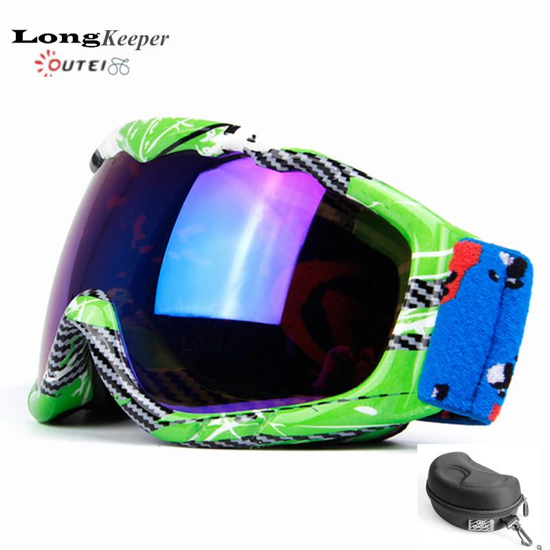 2016 New Double Anti-fog Kids Ski Goggles Spherical Lens Glasses Snowboard Googles Winter Boys Girls Children Snow Eyewares H35(China (Mainland))