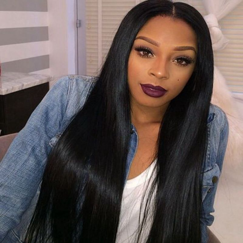 Cheap Synthetic Wigs Long Straight Hair Wig For Black Women New Arrival Synthetic Lace Front Wig Middle Parting<br><br>Aliexpress