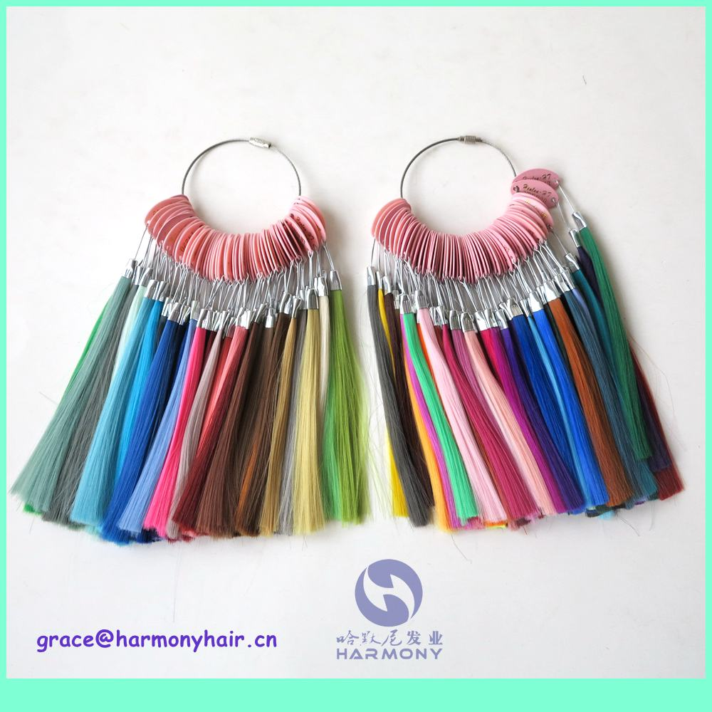 FREE SHIPPING (1set/lot) 146 colors synthetic hair color chart for jumbo braiding hair synthetic color wheel color ring