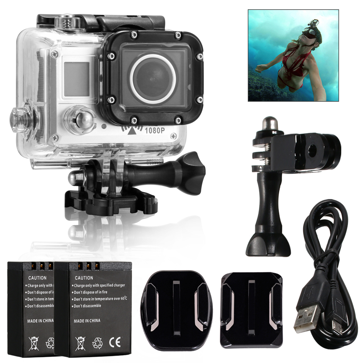 WiFi 20MP 1080P 720P Bicycle Helmet Sports Action Video Camera Cam LF643(China (Mainland))