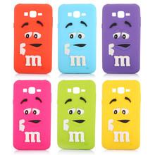 Rainbow Beans Cover Soft Silicon Case 3D M&M 's Chocolate Fundas Capa Para capinha for Samsung galaxy J1 J5 J7 PT7045 Phone Case(China (Mainland))