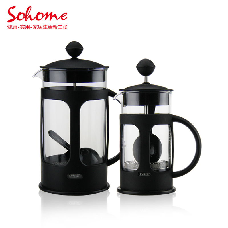 Tea Coffee Maker French Press : Sohome 8 cup french pressure pot glass tea maker french press coffee pot 1000ml family use ...
