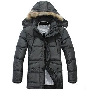 Man with hat really fur collar long money down outerwear winter jacket mens jackets and coats winter 2012 W004