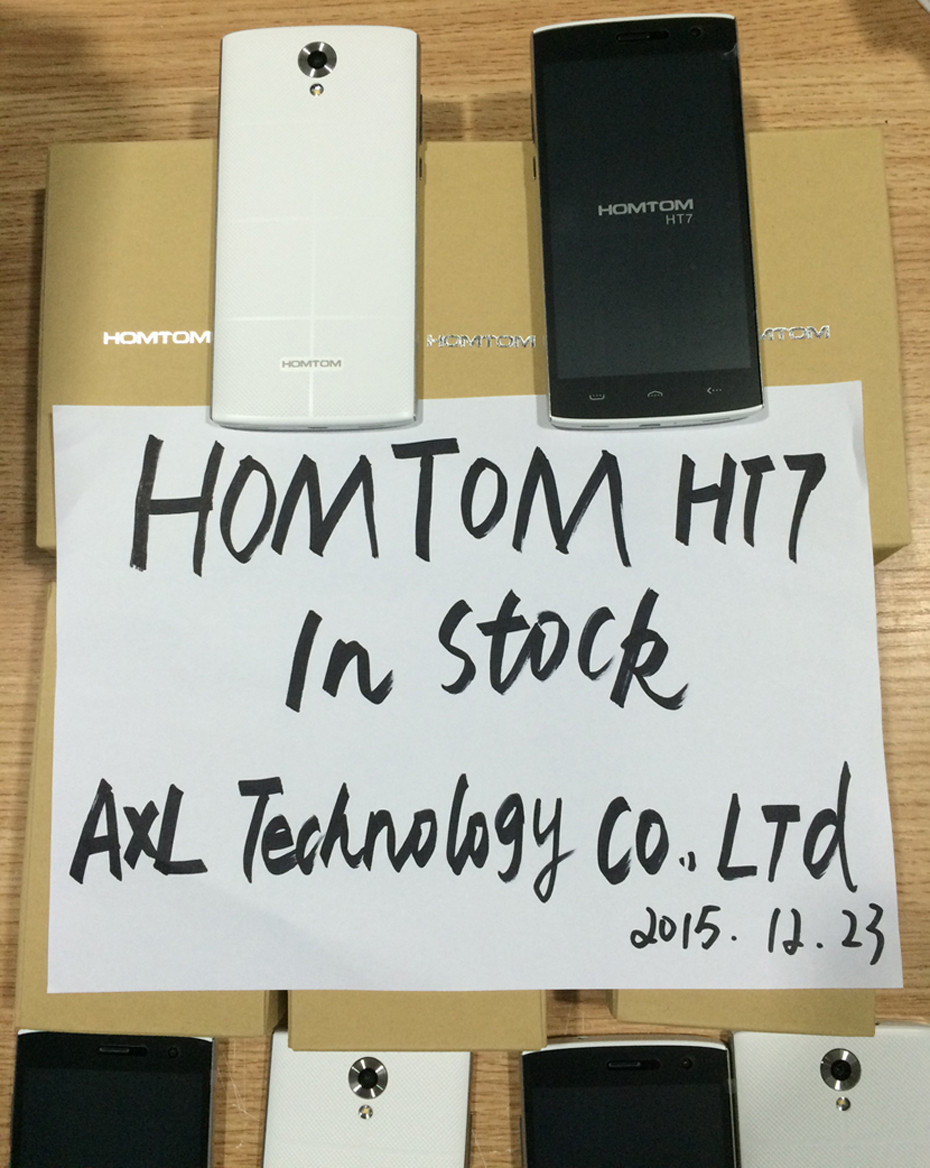 Original HOMTOM HT7 Mobile Phone 5.5 Inch 1280x720 MTK6580A Quad Core 64Bit 1G RAM 8G ROM 8.0MP Android 5.1 GPS 3G WCDMA 3000mAh
